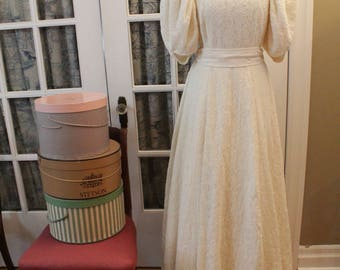 Late 1930's Wartime Wedding Dress