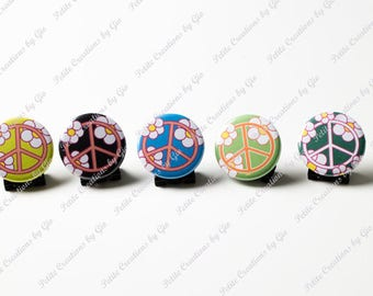 1.25 inch Pin Back Button - Peace Sign