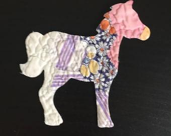 12 Horse or Pony Die Cuts fr Grandmother's Flower Garden Cutter Quilt