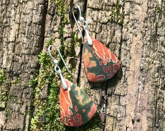 Cherry Creek Jasper, sterling silver, earrings