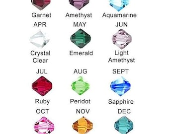 Add on birthstone bead