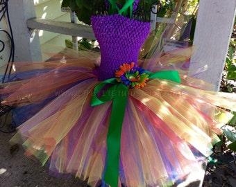 Rainbow tutu dress, tulle tutu, costume, rainbow tutu, newborn tutu, girls tutu, toddler tutu, pageant tutu, tutu skirt, dance tutu