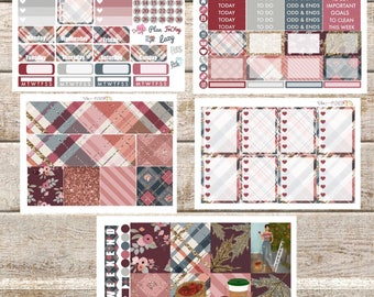 ORCHARD BLOOMS//Fall Planner Stickers Kit or Individual Sheets sized for the Erin Condren Life Planner
