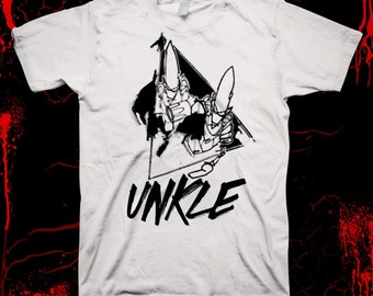 UNKLE (white) - James Lavelle - Pre-shrunk, hand screened 100% cotton t-shirt