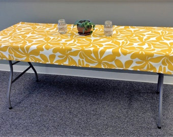 Fitted Tablecloth For Your Folding Banquet Table. Durable Indoor Outdoor  Fabric, Washable, Spill