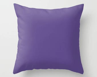 Ultra Violet Throw Pillow with pillow insert, Indoor, Outdoor, Solid Color, Pantone, Gift, Modern, Accent, Fashion, Home decor, Elegant