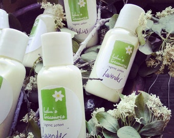 Organic Lotion. All Natural Skin Moisturizer.  Baby Lotion . Sensitive Skin Lotion