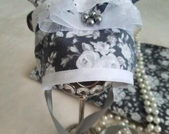 Baby girl bonnet, baby bonnet, baby hat, flower bonnet