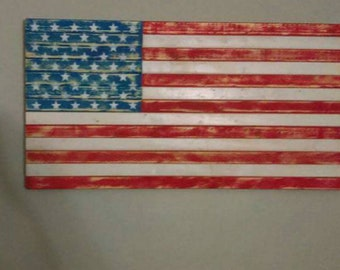 Rustic american flag color or burnt