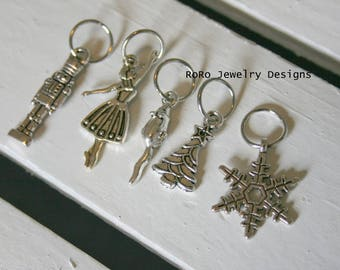 The Nutcracker Ballet Stitch Markers SET OF FIVE