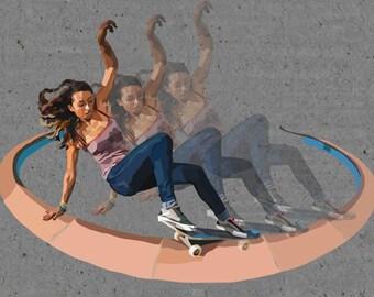 Lizzie Armanto Skater digital art print