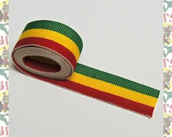 Ethiopia Africa Rasta Color Ribbon Made in Ethiopia (roots reggae dub rastafari africa ethiopia jamaica haile selassie i)