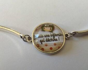 Nurse cabochon bracelet that rocks!