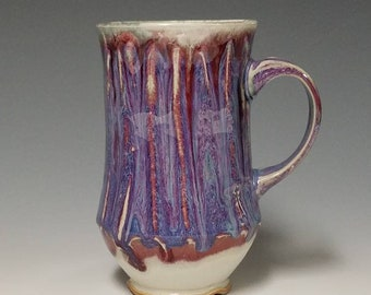 Handmade wheel thrown ceramic mug #1130