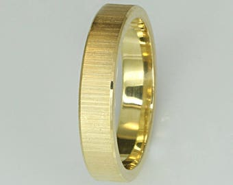 gold-plated silver wedding rings 925 4mm