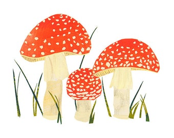 Amanita muscaria - Giclee Print of an Original Collage