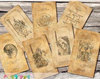 Gothic Tarot Deck - 78 Cards - Professionally Printed - Designed by Me.