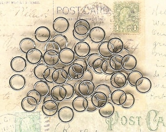 6mm, Nickle Plated Split Rings, 50 Pack, Lobster Claw End, Antique Silver Key Ring, Nickle Key Ring, 6mm Splitring, Bracelet Clasp End
