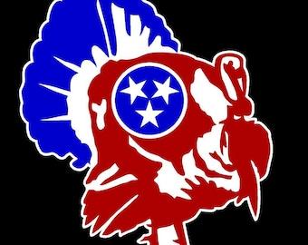 Tennessee Tri-Star Turkey Decal
