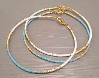 Simple jewelry Simple bracelet Everyday Bracelet Minimalist bracelet Aqua Bracelet