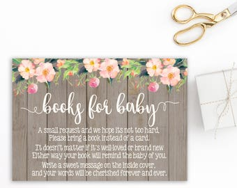 Books for Baby Card, Book Request Card, Book Instead of a Card