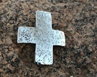 Handmade sterling silver Cross Pendant