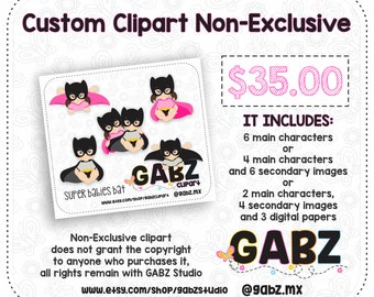 Custom Clipart Non-Exclusive, Clipart, GABZ, Not applicable with discount coupons.