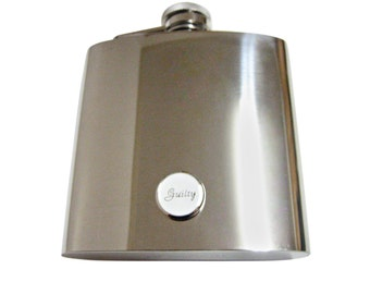 Guilty Law 6 oz. Stainless Steel Flask