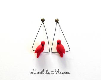 Earrings creator Bird on wire
