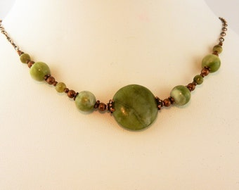 Ireland's Connemara Marble beaded necklace with copper