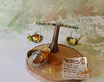 Fairy gemstones stock, one inch scale miniature, magic, witch, fantasy, fairy garden