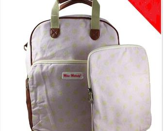 Pink polka dot Backpack/Rucksack with matching I-pad case
