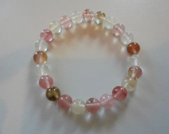 Pearls natural stones for Lithotherapy watermelon Tourmaline bracelet