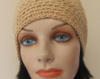 Gold Beanie, Unisex Hat, Cold Weather Accessory, Gold Snow Hat, Ice Skating, Snow Playing