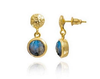 Labradorite Kate Middleton, Princess earrings