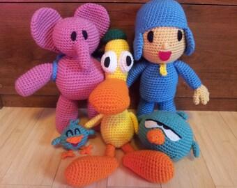 Pocoyo & friends 5 crochet patterns bundle!