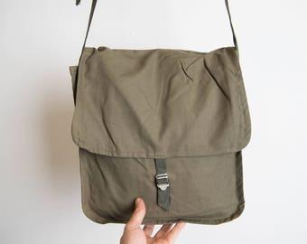 Man Crossbody Bag, Vintage Dude Bag, Shoulder Bag,  Military Messenger Bag, Boyfriend Gift, MB111