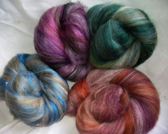 Multi FiberedBatts for Hand Spinning Yarn