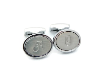 Valentines Day, 1st Anniversary Gift For Boyfriend, Anniversary Gift For Men, Two Year Anniversary, Monogram Cufflinks, Personalized Husband