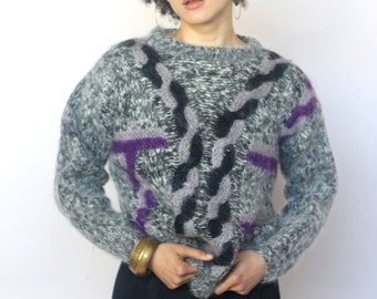 dreams and visions -- vintage 80's avant garde sweater Size S/M