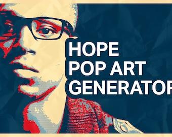 Hope Pop Art Poster Generator