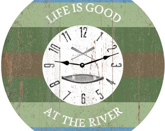 Life is Good at the River Clock