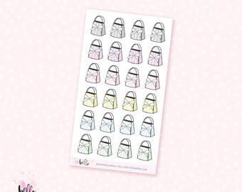 Bow bag stickers - 24 mini stickers