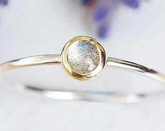 Silver Labradorite Ring, Labradorite Gemstone Ring, Silver Stacking Ring, Gemstone Stacking Ring, Labradorite Ring, 9ct Gold Ring