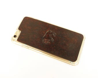 Leather iPhone 8 Case | American Bison / Buffalo