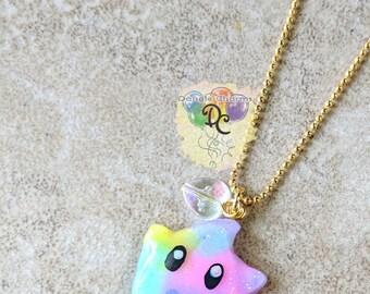 Sparkling Pastel Luma necklace - Mario star charm