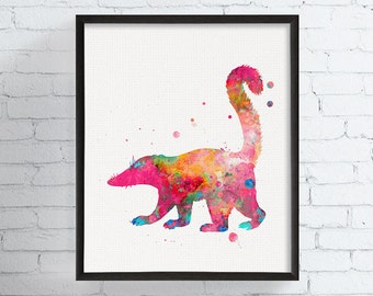 Watercolor Coati Print, Coati Art, Coati Painting, Coati Wall Art, Watercolor Animal Print, Animal Painting, Nursery Art, Kids Room,, Framed