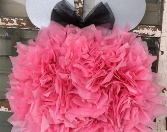 Minnie Mouse Inspired Wreath