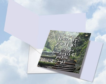 CQ4619FOCB Square-Top All Occasions Greeting Card: Resist Quotes Suu Kyi Featuring an Inspirational Quote by Aung San Suu Kyi, with Envelope
