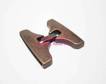 3pcs 40mm Flat leather clasp Multi strand 40x2mm clip clasp Antique copper leather clasp